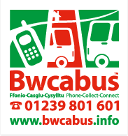 Bwcabus local bus service near Gwarffynnon